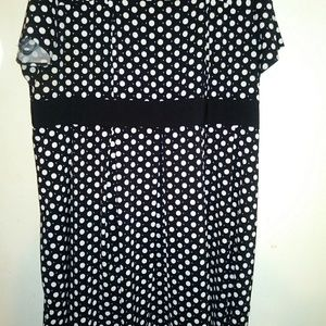 Beautiful Black & White Polka-dot dress.